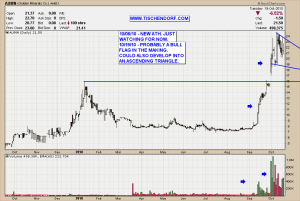 AUMN AMEX Listed Golden Minerals Bullish Flag Technical Analysis Price Chart Pattern